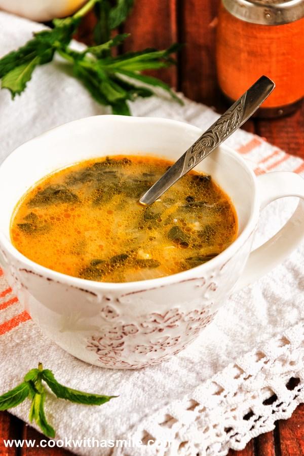 супа от лапад с ориз и картофи