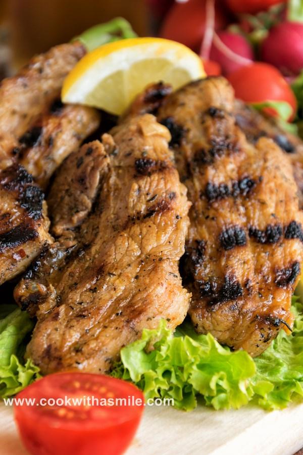 мариновани свински гърди на скара рецепта за марината за свинско месо