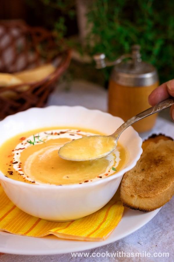 крем супа от тиквички картофи и моркови