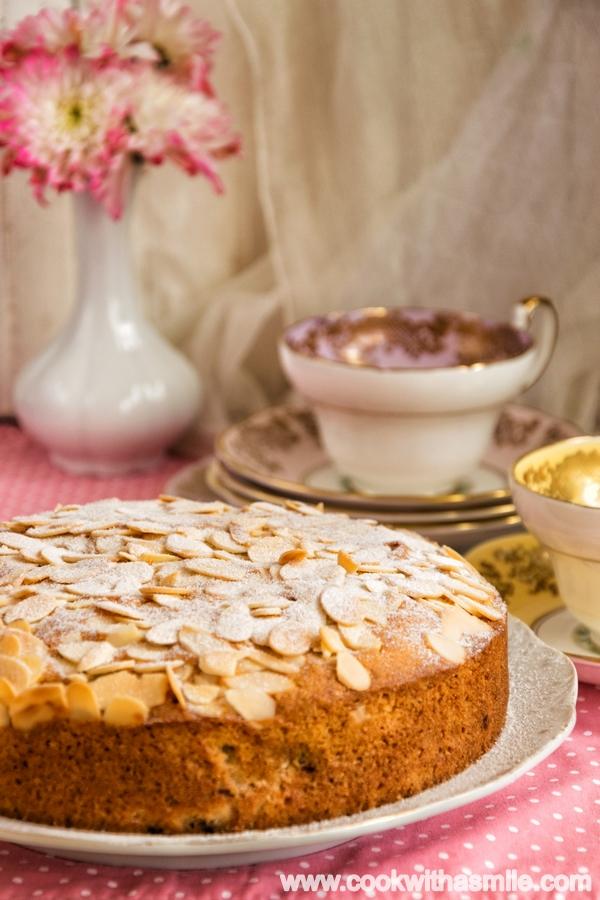 кейк Бейкуел с малини и бадеми рецепта