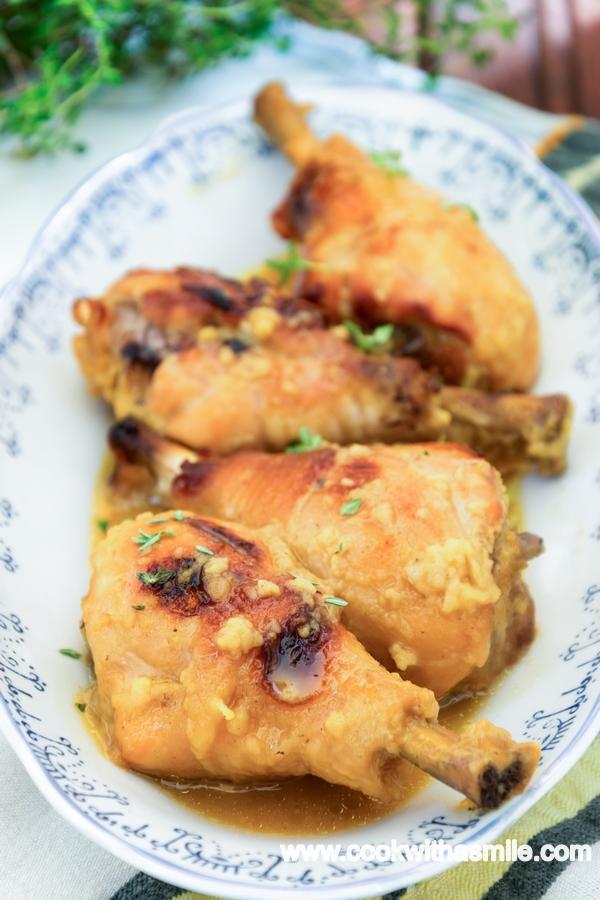 пилешки бутчета с мед и горчица