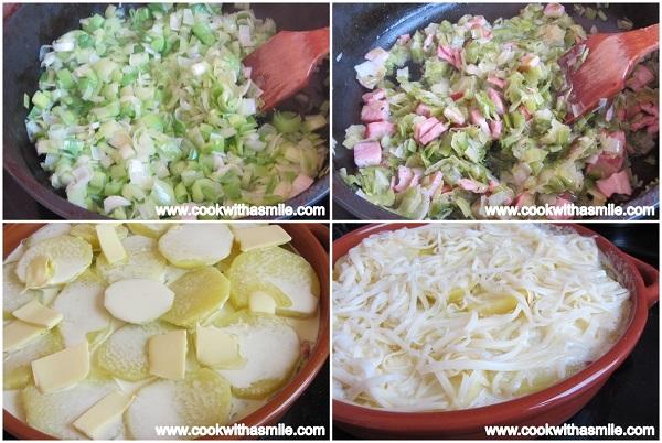 Огретен с картофи праз и бекон