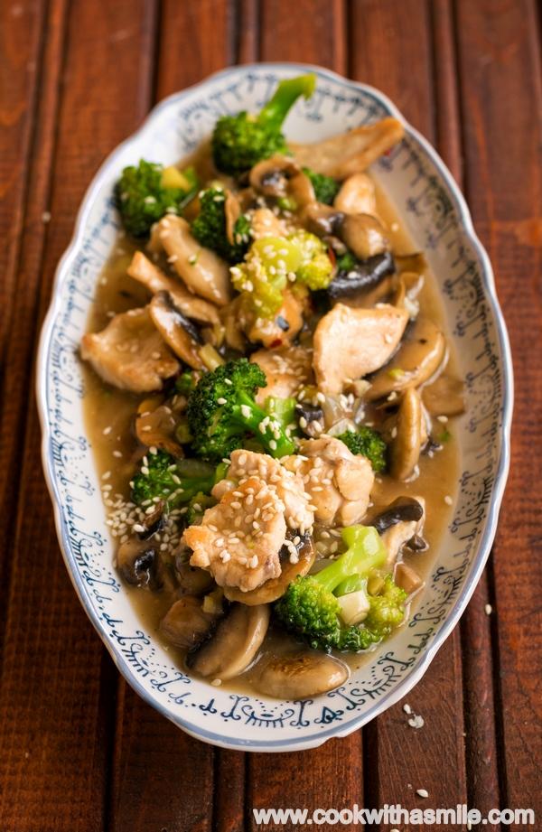 пиле с броколи и гъби рецепта