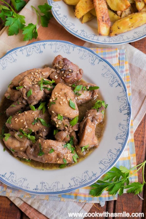 мариновани пилешки хапки с бърбън