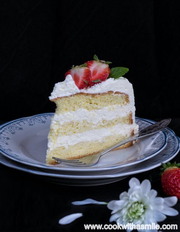 сметанова торта с пандишпанов блат за начинаещи