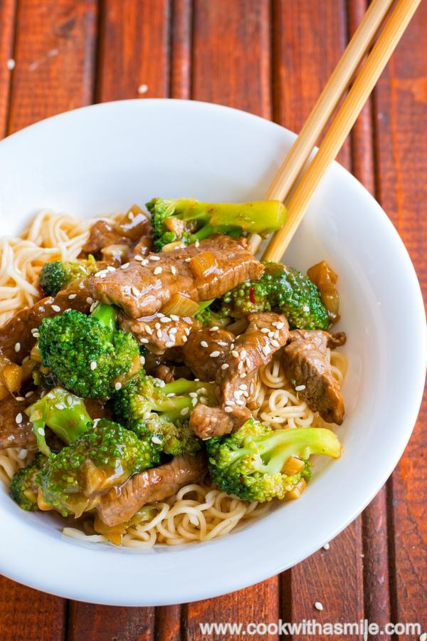 рецепта за телешко с броколи на тиган