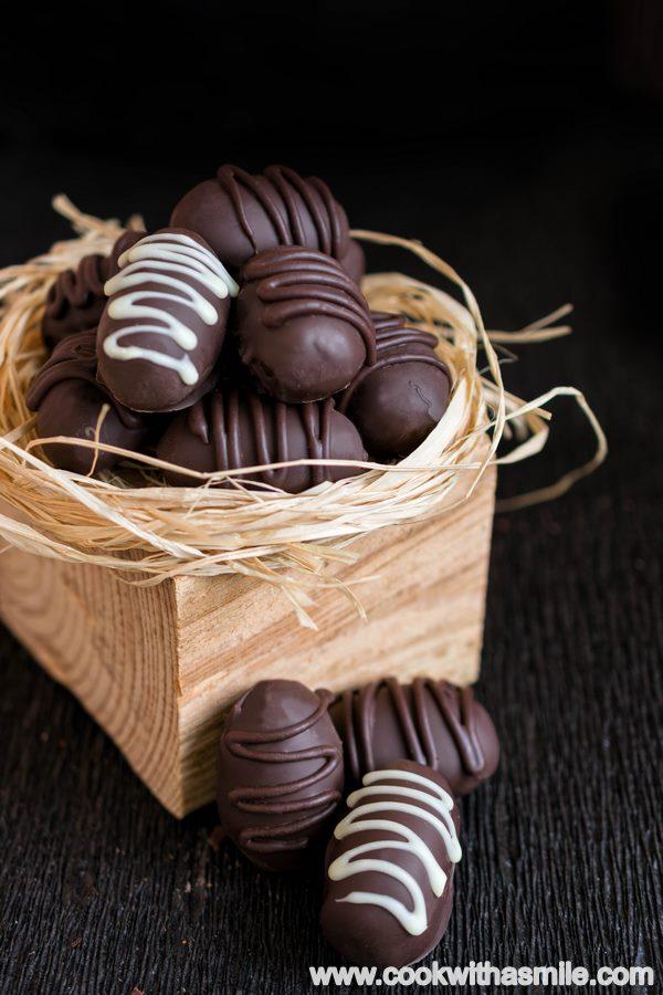 домашни шоколадови бонбони с банан