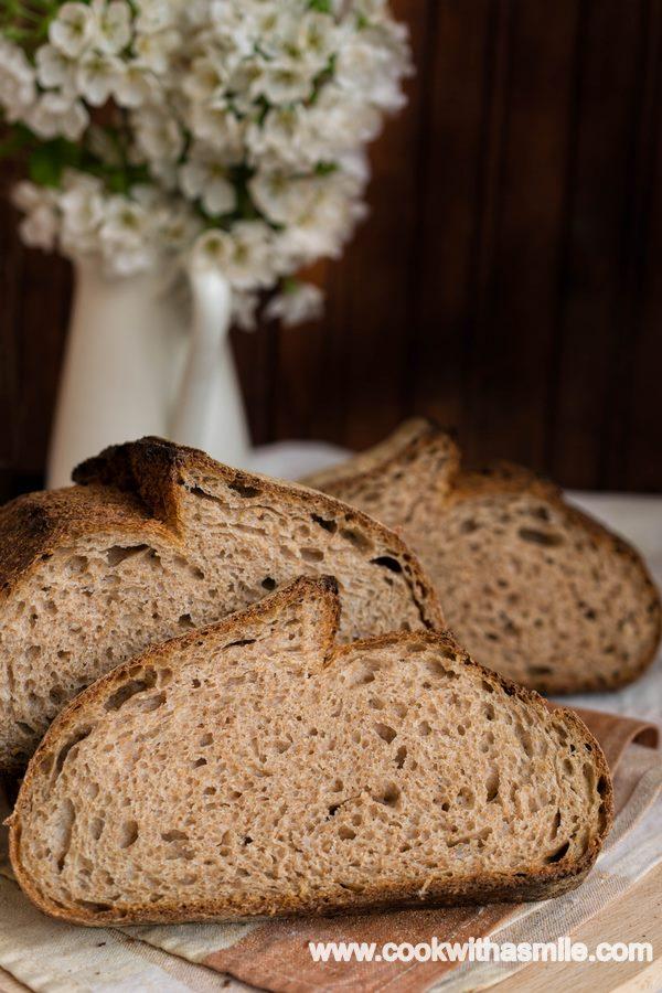 пълнозърнест хляб с квас