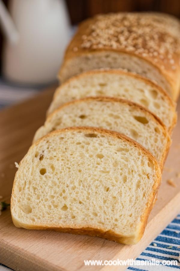 тостерен хляб сметанов хляб за сандвичи