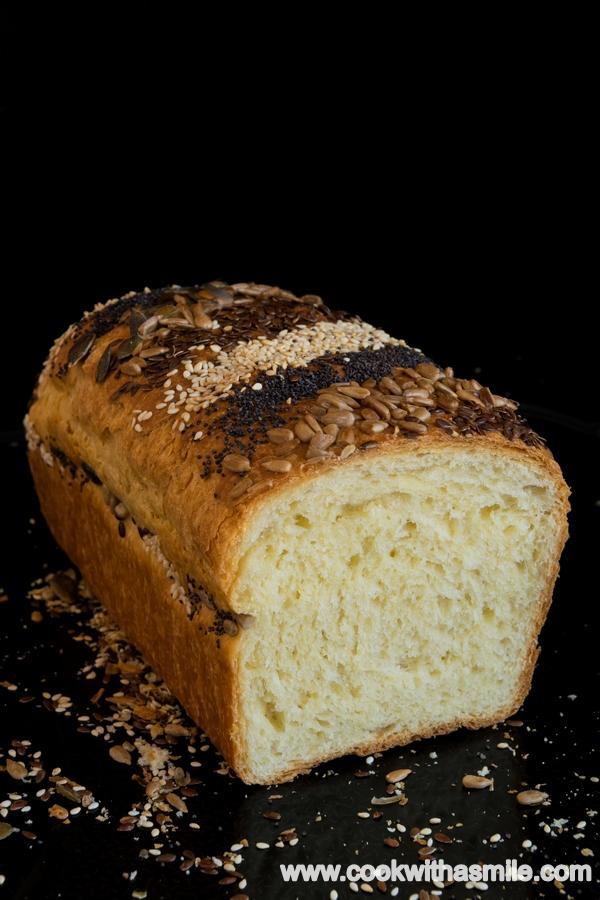 тостерен хляб със сметана