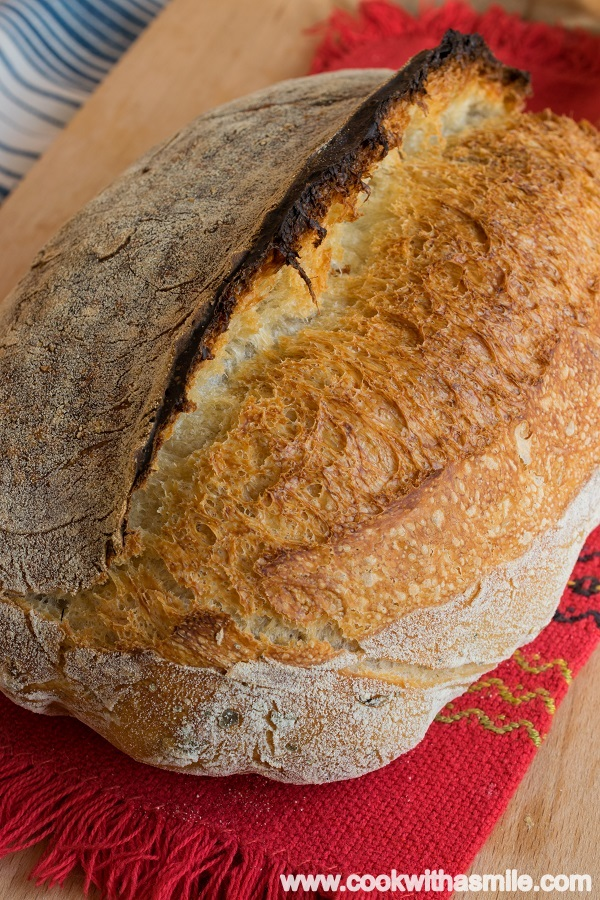 хляб с квас маслини и риган