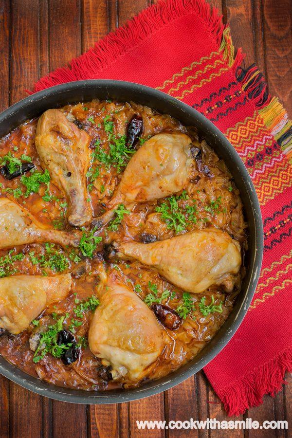 пиле с прясно зеле на фурна рецепта