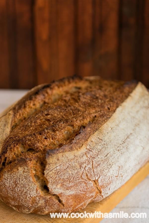 пълнозърнест хляб спелта и кефир