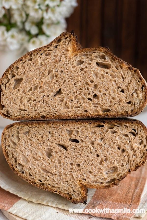 пълнозърнест хляб с квас кефир рецепта