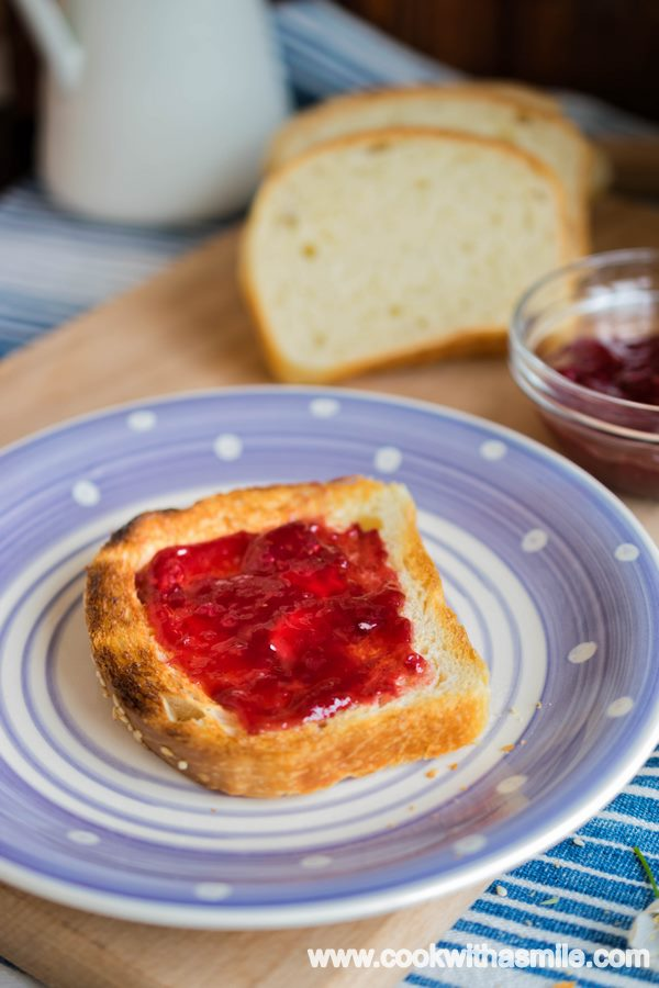 сметанов хляб за сандвичи с квас тостерен хляб