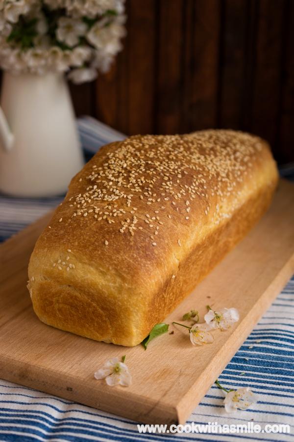 сметанов хляб за сандвичи