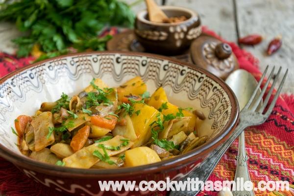 рецепта за лесна яхния от зелен боб с картофи
