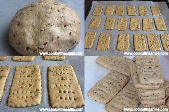 Пълнозърнести крекери с ленено семе