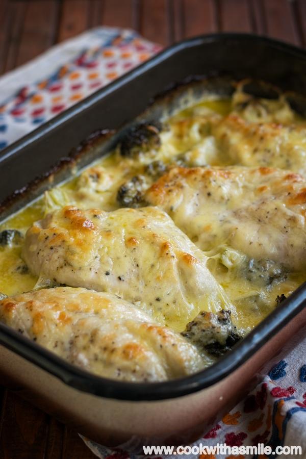 пиле с броколи сирена и сметана
