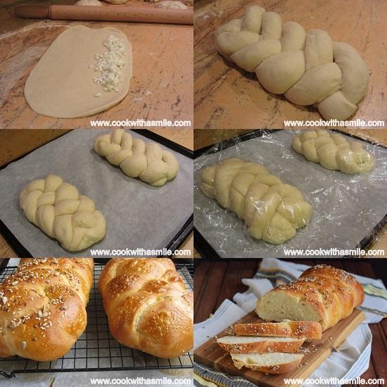 плетен хляб със сирене солен козунак стъпка по стъпка
