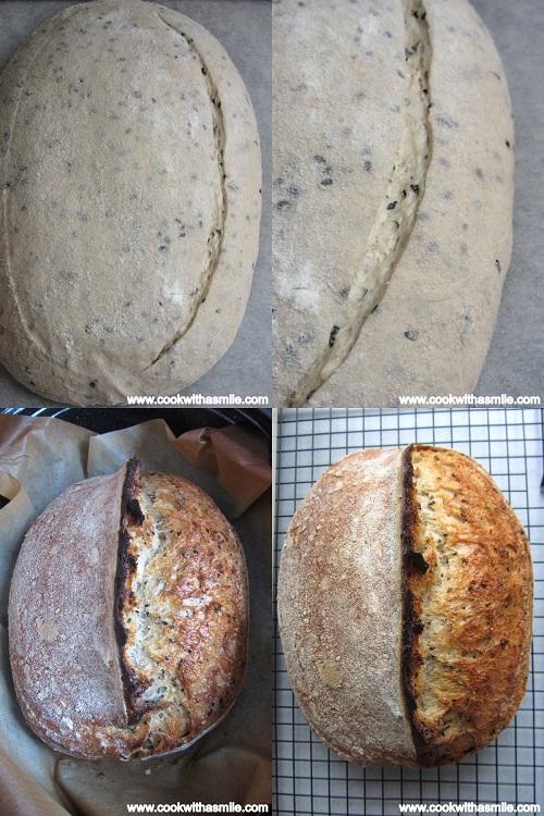 хляб с квас разрези печене