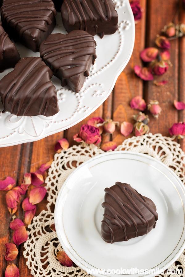 шоколадови сърца лесна рецепта