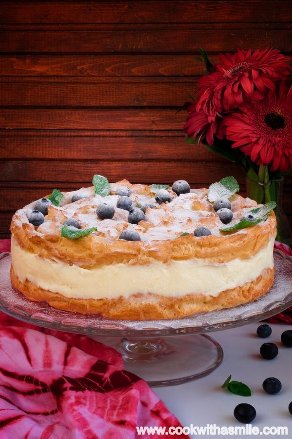 полска еклерова торта с ванилов крем