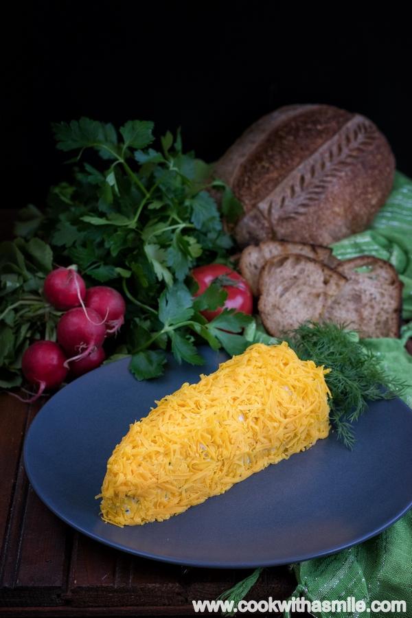 идеи за салати и предястия за Великден морков от крема сирене