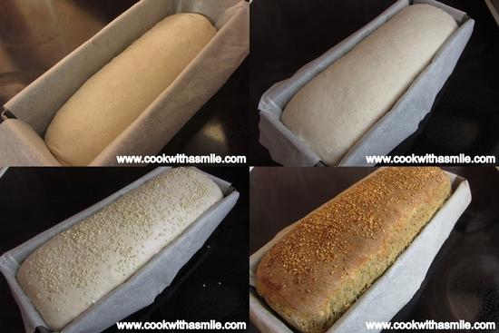 двуцветен тостерен хляб
