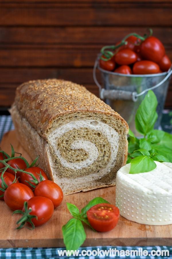 рецепта за хляб с песто