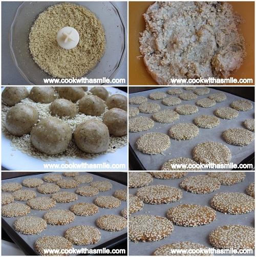 постни бисквити с тахан и сусам стъпка по стъпка