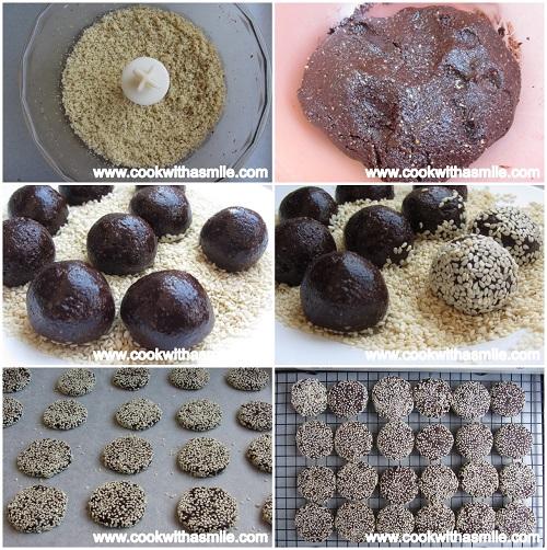 шоколадови бисквити с тахан и мед