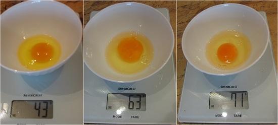 тегло на яйца