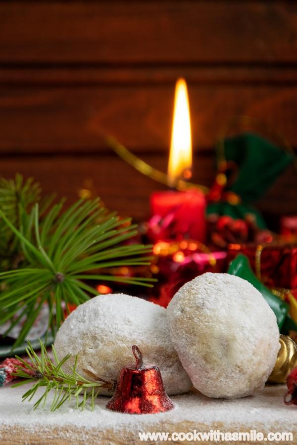 коледни сладки руски чаени бисквити снежни топки