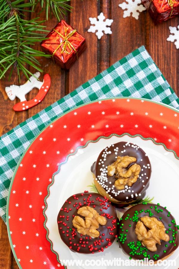 меденки с мармалад и шоколадова глазура