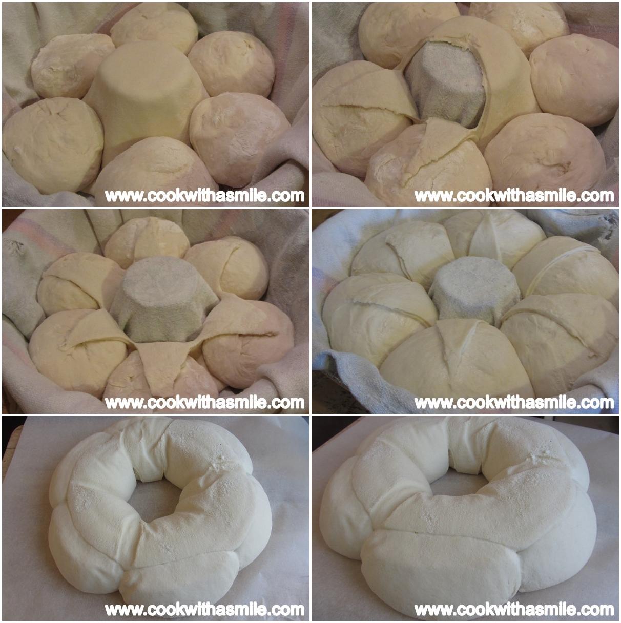как се оформя хляб корона стъпка по стъпка