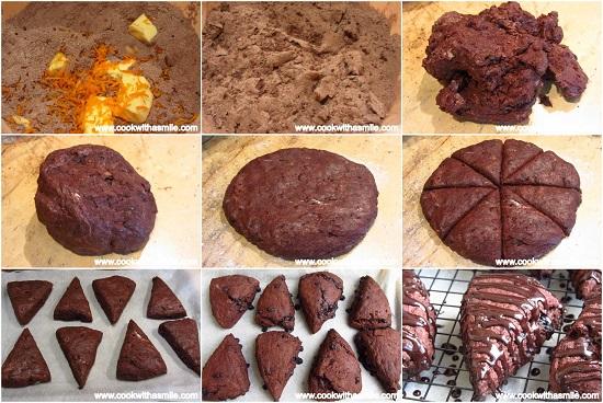 шоколадови бисквити скони стъпка по стъпка
