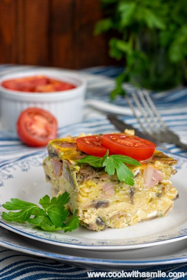 рецепта за огретен с гъби и яйца