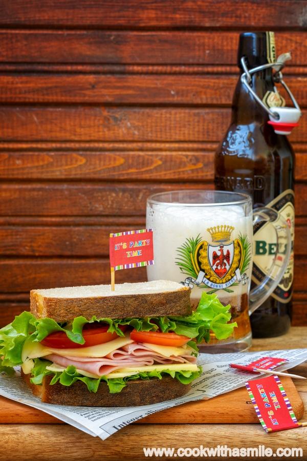сандвич с домашен хляб с квас