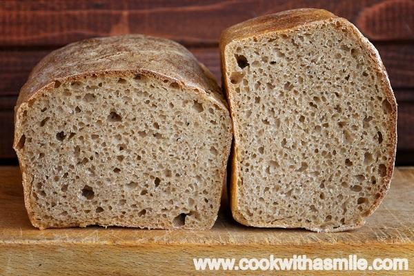 тостерен хляб с брашно от лимец