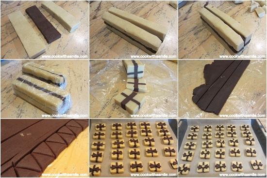 маслени бисквити коледен подарък оформяне стъпка по стъпка