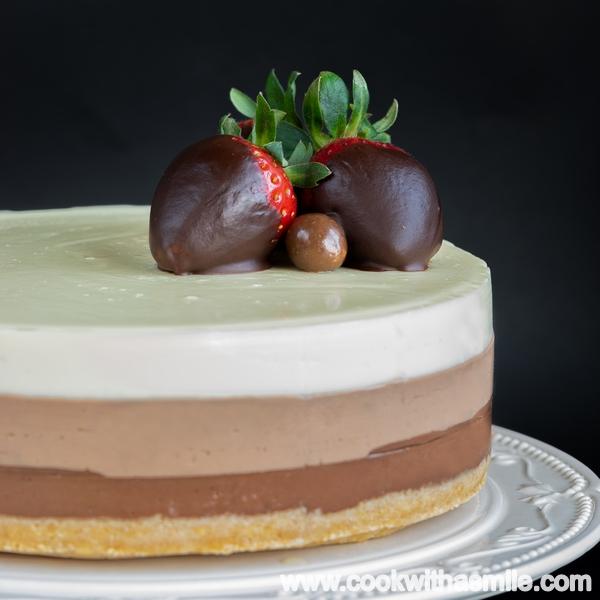 как се прави торта три шоколада
