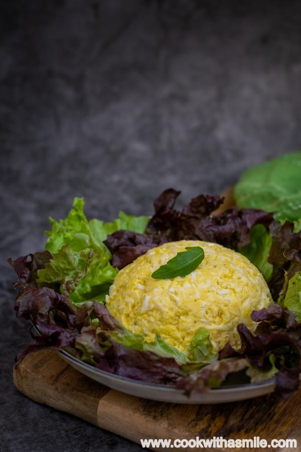 бърза еврейска салата с яйца