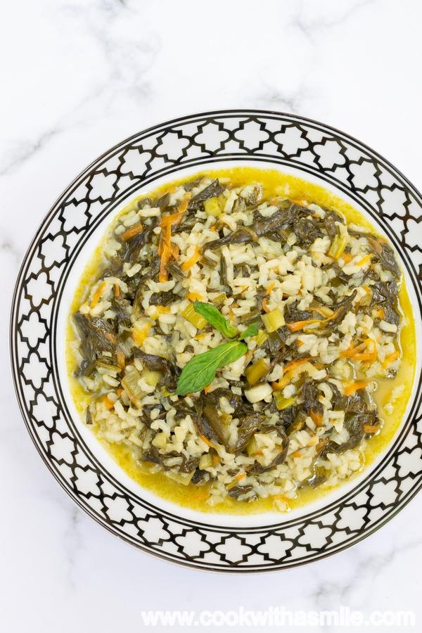 спанак лапад с ориз рецепта