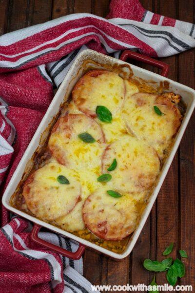 Патладжан-на-фурна-със-сирене-и-домати-рецепта