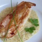 Пилешко филе сос горчица сметана-розмарин