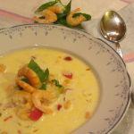 супа от скариди сметана