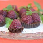 домашни шоколадови бонбони с малини
