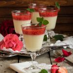 млечен крем с ягоди